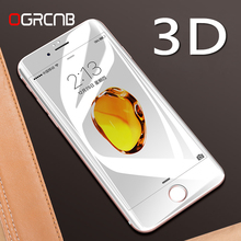 Buy 3D Round Curved Edge Tempered Glass iPhone 6 7 Plus Full Cover 9H 0.26mm Premium Screen Protector Film iPhone 6s 7 for $1.39 in AliExpress store