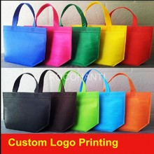 100PCS Non-woven Reusable Kids Carrying Shopping Grocery Tote Bag for Party Favor in Retail Packaging custom logo printed