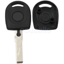 Ignition transponder blank key For Volkswagen VW GOLF JETTA PASSAT KEY CASE COVER SHELL FOB UNCUT HU66 BLADE
