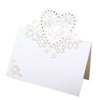 50pcs love heart name tag place card seat card name card table