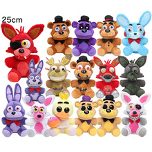 25cm fnaf plush toy Five Nights At Freddy's plush Golden Freddy Fazbear Mangle bonnie foxy Stuffed Doll Toys Sister Location