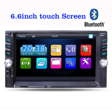 Buy 6.6 inch Car MP3 MP5 FM Player Auto Audio Stereo TFT Touch screen 2 Din Dash Bluetooth Stereo Radio USB AUX IN for $52.17 in AliExpress store