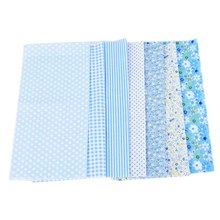 Hoomall 7PCs/set 25*25cm Blue DIY Patchwork Fabrics For Sewing The Cloth Baby Quilting Cotton Fabric Felt For Needlework