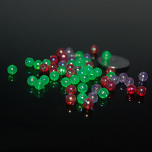 100PCS Mix Glow Fishing Texas rigged tube Block bead Soft lure accessory