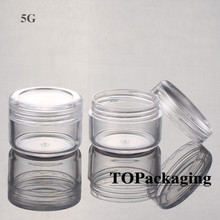 100PCS/LOT-5G Cream Jars,Clear Plastic Makeup Sub-bottling,Empty Cosmetic Container,Small Sample Mask Canister,Nail Art Box(China)