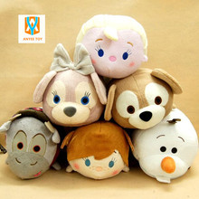 30cm Cute cartoon Tsum Tsum Plush Doll pillow plush Toys Screen Cleaner accessory for Christmas gift Free Shipping