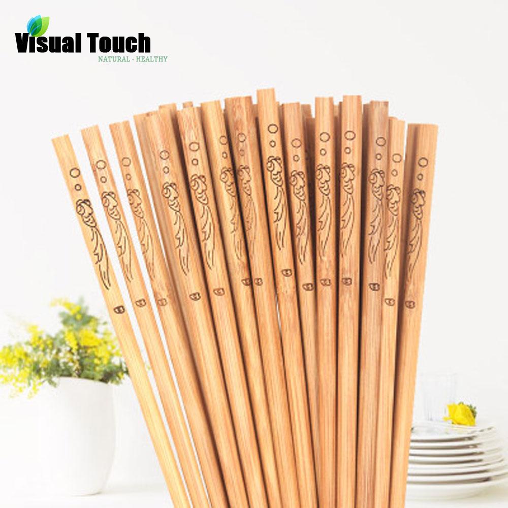 Bamboo Chopstick Chop Sticks Sushi Long Sticks Chinese Food Natural Wooden Gift