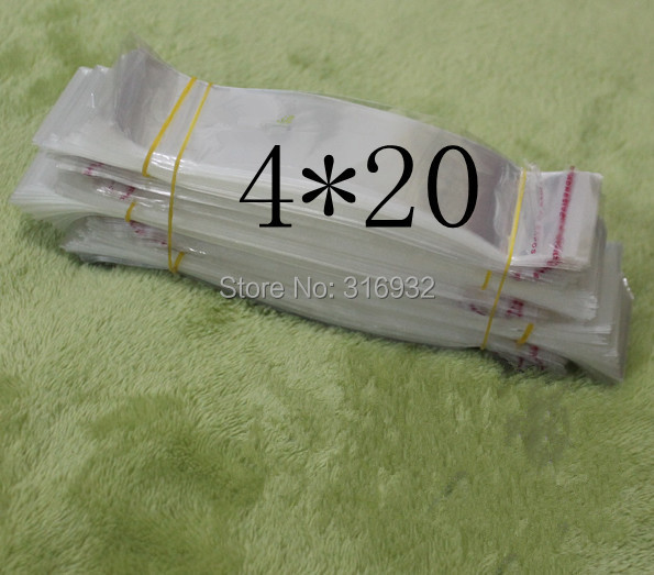 Clear Resealable Cellophane/BOPP/Poly Bags 4*20cm Transparent Opp cosmetic Bag Packing Plastic Bags Self Adhesive Seal 4*20 cm(China (Mainland))
