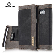 For Samsung Galaxy S7 Case edge Flip Wallet Leather Cover Luxury Full Phone Protective Black Brown Cases for Samsung S7  Coque