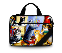 Cat 17 Laptop Shoulder Bag Canvas Case Briefcase For Macbook Pro 17.3 Inch<br><br>Aliexpress