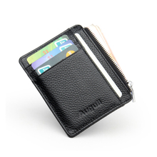 Slim Women Wallet Brand Genuine Leather Purse Small Wallet Female Card Holder Mini Purse Clutch Carteira Feminina(China)