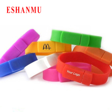 2016 Real capacity Silicone Bracelet Wrist Band 16GB 8GB 4GB USB 2.0 USB Flash Drive Pen Drive custom LOGO over 50pcs
