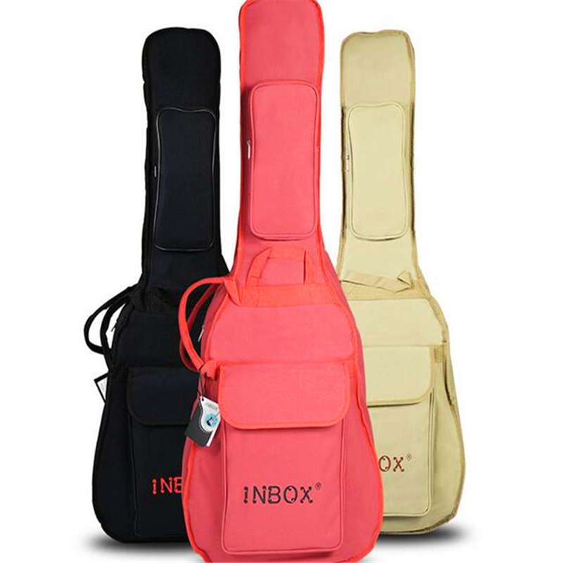 Folk guitar bag 40/41 Acoustic guitar bag Thickening sponge Portable &amp; Backpack Classical guitar 38/ 39 accessories waterproof<br>