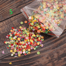 10000 pc/bag Nail Art Decorations Fruit Flower Butterfly Heart Feather Animal Fimo Letter 3d Manicure Polymer Clay Nails Sticker(China)