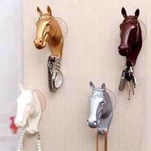 1 pc Decorative Wall Hook for Home Furnishing Modern Small Horse Hooks Resin Wall Jewelry Keys Hangers Rack Creative w5(China)