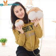 BOOKFONG Cute Pet Dog Butt Plush Corgi Butt Shape Coin Purse Animal Plush Backpack Creative Corgi Crossbody handbag Girl's Bag