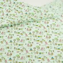 News Cartoon Bear and House Design Cotton Fabric Plain Patchwork Desk Cloth Tecido Home Textile Tissue Scrapbooking Dolls's DIY(China)