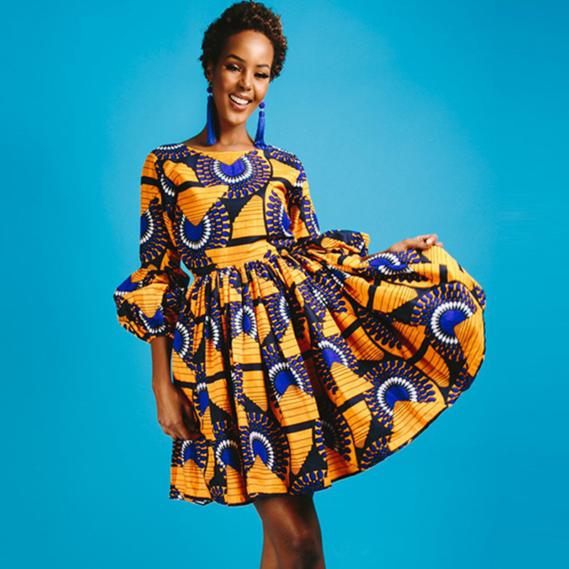 379121e11f1 New traditional african dress Plus Size 2 Pieces Dashiki Skirt Set knee  length Bazin Rche Femme v-neck Clothing ...