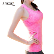 Quick Dry Tank Top Womens Women Shirts Elastic Breathable Fitness Comfortable Vest Ladies Vest WS042(China)