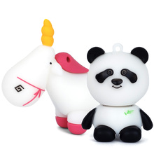 LEIZHAN Cute Animal Pen Drive 16GB USB Flash Drive Panda Computer Memory Stick 2.0 8GB U Disk 32GB Pendrive 4GB Gift Key Unicorn