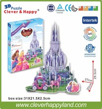 new clever&happy land 3d puzzle model The Diamond Castle Of Leer adult puzzle diy dream games for children paper(China)