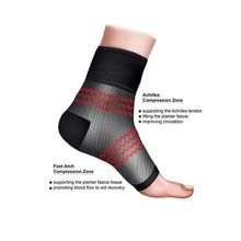 1 Pair Men Women Anti Fatigue Circulation Ankle Brace Swelling Relief Compression Sports Cycle Foot Ankle Support