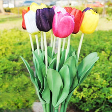 10 PCS Artificial Flower Tulips Decorative flowers on the ground Placing flowers Studio photography flower arrangement(China)