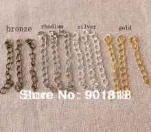 XINYAO 100pcs/lot Necklace Extension Chain Bulk Bracelet Extended Chains Tail Extender For DIY Jewelry Making Findings F1620