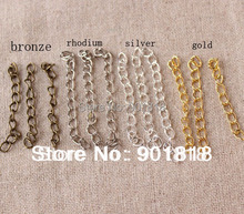 Buy XINYAO 100pcs/lot Necklace Extension Chain Bulk Bracelet Extended Chains Tail Extender DIY Jewelry Making Findings F1620 for $2.87 in AliExpress store