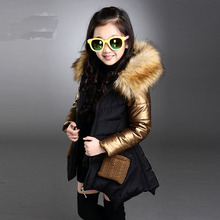 Toddler Girl Winter Coat  Baby Girl Warm  Coat  Padded Child Thicken Fur collar Leisure Cotton-padded parkas Coats