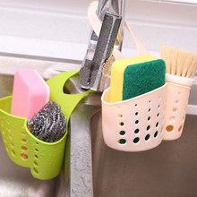Kitchen Sink Shelving Bag Dish Cloths Rack Suction Sponge Hanging Drain Holder Faucet Multipurpose Storage Rack()