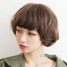 Handsome Light Brown Pear Head Simulation Curly Wig short hair wigs (NWG0SH61093-MA2)