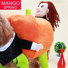 New Funny Pumpkin Dog Costumes Halloween Novel Pumpkin Pet Coat Fleece Small Dog Super Cute Costumes Fancy Pet Clothes