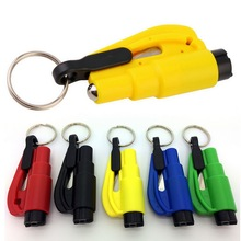 3 in 1 Emergency Mini Safety Hammer Auto Car Window Glass Breaker Seat Belt Rescue Hammer Escape Tool(China)