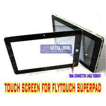 "Original Touch Screen Panel Digitizer Glass Replacement For 10.2"" Flytouch 7 8 Superpad VII VIII Allwinner A10 GPS Tablet +Film(China)"