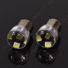 1Pcs Big Promotion White 1156 P21W 6 LED 2835 SMD Projector Car Auto Light Source Backup Reverse Parking Lamp Bulb DC12V