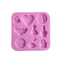 Purse shaped Chocolate Candy Jello 3D silicone Mold Mould Cartoon Figre/cake tools Soap Mold Sugarcraft Cake Decoration(China)