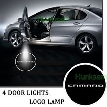 LED door step courtesy laser projector light for CAMARO WHITE CIRCLE #1931*4