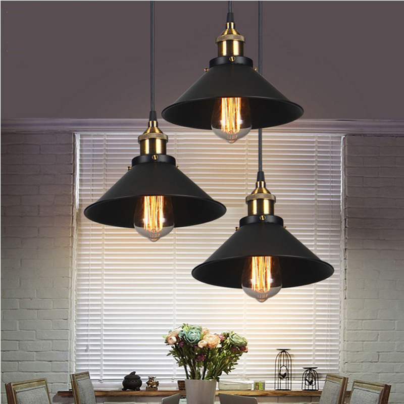 Industrial Warehouse Pendant Lights American Country Lamps Vintage Lighting for Restaurant Decoration Black Pendant Lights<br><br>Aliexpress