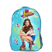 Custom Made TV Show Soy Luna Backpack Boys Girls School Bags Animal Women Men Movie Children purple blue Travel Bag