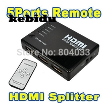 kebidu New HDMI True Matrix 3/5 Port HDMI Switch Switcher Splitter Hub Box for PS3 for Xbox 360 HDTV DVD + IR Wireless Remote(China)