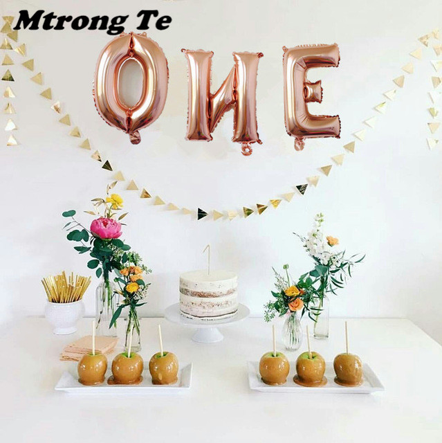 1set-16inch-Rose-gold-Wild-One-One-Foil-Balloon-Baby-Shower-1th-Birthday-Party-Decoration-Kids (2)