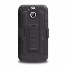 Duty Armor Case For HTC BOLT Case Stand Belt Clip Hybrid Outdoor Hoesjes Black Back Cover For HTC 10 Evo Shockproof Hard Case(China)