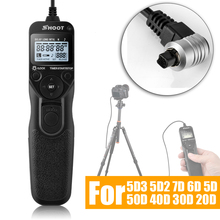 Shoot Selfie LCD Timer Remote Control Shutter Release Cable w Exposure Function for Canon 5D3 5D2 7D 6D 5D 50D 40D 30D 20D