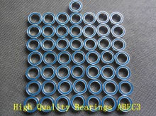 Free shipping 50PCS 8x16x5 Blue Rubber Seals bearing 688 2RS ABEC3 8X16X5mm Model bearing Motor bearing