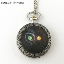 FANTASY UNIVERSE Freeshipping wholesale 20pc a lot The Legend of Zelda Majoras Mask pocket watch Necklace Dia4.7CM DFEIJI20