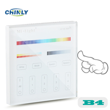 Mi light B4 Battery model 4-Zone RGB+CCT Wall Hanging LED Touch Switch Panel Remote Controller for MI LIGHT RGB+CCT Controller(China)