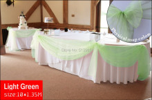 light green 10M*1.35M Sheer Mirror Organza Fabric wedding decoration Fabric curtain on festival,best fabric ,HQ good service