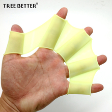 TREE BETTER Swimming fins for Adults Kids Professional Training Swim webbed gloves Child Duck palm Snorkeling Soft Silicone Fins