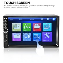 NEW 2 Din Car Video Player 7'' HD Touch Screen 1080P Bluetooth Stereo Radio FM/SD/MP4/MP5/Audio/USB/TF Auto Electronics In Dash(China)